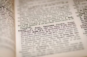 out of focus dictionary